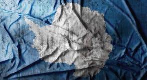 Grunge crumpled Antarctica flag. 3d rendering Royalty Free Stock Photos