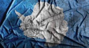 Grunge crumpled Antarctica flag. 3d rendering Royalty Free Stock Image