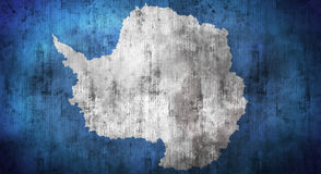 Grunge crumpled Antarctica flag. 3d rendering Royalty Free Stock Photography