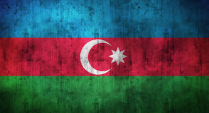 Grunge crumpled Azerbaijan flag. 3d rendering Royalty Free Stock Photos
