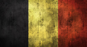 Grunge crumpled Belgium flag. 3d rendering Stock Photography