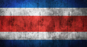 Grunge crumpled Costa Rica flag. 3d rendering Royalty Free Stock Images