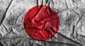 Grunge crumpled Japanese flag. 3d rendering. Grunge crumpled Japanese flag background with dirt. 3d rendering Royalty Free Stock Photography