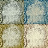Grunge crumpled paper backgrounds Royalty Free Stock Images