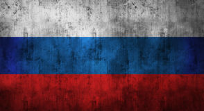 Grunge crumpled russian flag. 3d rendering. Grunge crumpled russian flag background with dirt. 3d rendering stock photo