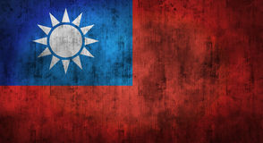 Grunge crumpled Taiwan flag. 3d rendering. Grunge crumpled Taiwan flag background with dirt. 3d rendering royalty free stock photo