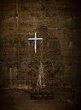 Grunge cruzado blanco Fotografía de archivo libre de regalías
