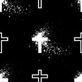 Grunge cruzado blanco Foto de archivo