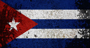 Grunge Cuba Flag Stock Images