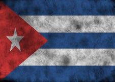 Grunge Cuba flag. Stock Photos