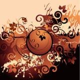 Grunge curly pattern royalty free illustration