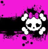 Grunge Cute Skull place card Stock Photo