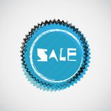 Grunge cyan badge Stock Photos