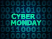 Grunge Cyber Monday Sale. Grunge sale technology background for cyber monday with computer code Royalty Free Stock Photo