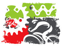 Grunge cycling background Stock Photos