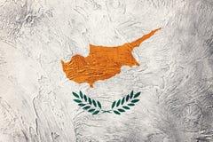 Grunge Cypr flaga Cypr flaga z grunge teksturą Zdjęcie Royalty Free