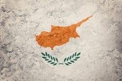 Grunge Cypr flaga Cypr flaga z grunge teksturą Obrazy Royalty Free
