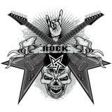 grunge czaszki żakiet ręki Zdjęcie Royalty Free