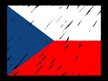 Grunge Czech flag Stock Photos