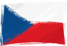 Grunge Czech Republic flag Royalty Free Stock Photos