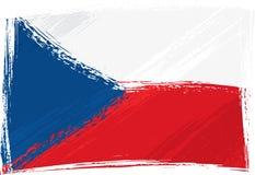 Grunge Czech Republic flag Royalty Free Stock Photos