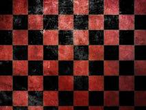 Grunge czerwieni warcaby Obraz Stock