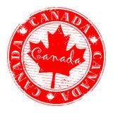 grunge czerwieni znaczek Obrazy Royalty Free