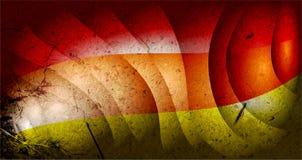 Grunge Czerwony jaskrawy gradient wykonuje plamy tło ilustracja wektor