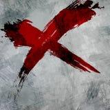 Grunge czerwony krzyż Fotografia Stock