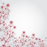 Grunge czerwony kwiat Zdjęcia Royalty Free