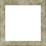 Grunge 3d рамки белый изолированный на белизне Стоковое Изображение