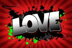 Grunge d'amour Image libre de droits