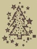 Grunge d'arbre de Noël Photographie stock