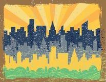 Grunge d'horizon de ville Illustration de Vecteur