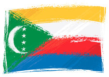 grunge d'indicateur des Comores Photos stock