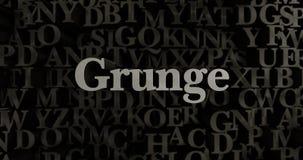Grunge - 3D teruggegeven metaal gezette krantekopillustratie Royalty-vrije Stock Fotografie