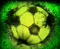 Grunge da bola de futebol Imagem de Stock Royalty Free