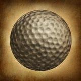 Grunge da bola de golfe Foto de Stock