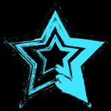 Grunge da estrela azul Fotos de Stock Royalty Free