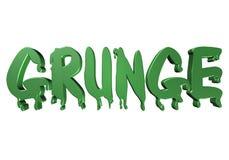 grunge da tipografia do projeto 3D ilustração royalty free