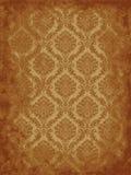 Grunge damask. Damask pattern on weathered old paper Stock Image