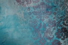 Grunge damask background. Damask colored on a grunge background Royalty Free Stock Image