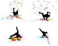 Grunge dance background set Royalty Free Stock Photo