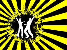 Grunge dancing Royalty Free Stock Photo