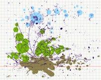 Grunge dandelion Royalty Free Stock Images