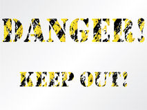 Grunge danger background Royalty Free Stock Image