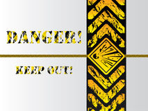Grunge danger background sign Royalty Free Stock Photography
