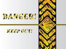 Grunge danger background sign Royalty Free Stock Image
