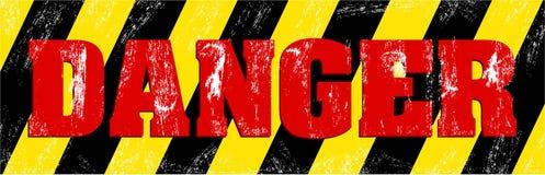 Grunge danger sign Stock Image