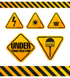 Grunge danger signs collection Royalty Free Stock Photography
